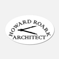 Howard Roark 22x14 Oval Wall Peel