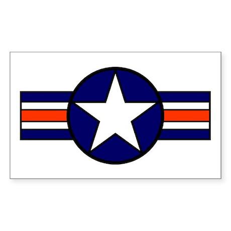 1947 USAF Aircraft Insignia Rectangle Sticker