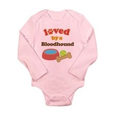 Bloodhound Dog Gift Long Sleeve Infant Bodysuit