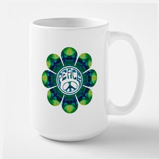 Peace Flower - Meditation Large Mug