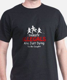 Illegals, Thirsty MX1 -  Black T-Shirt