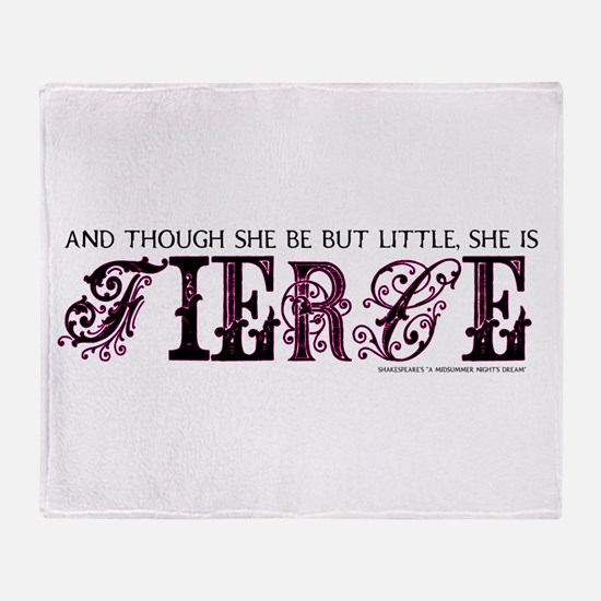She is Fierce - Ecelectic Throw Blanket