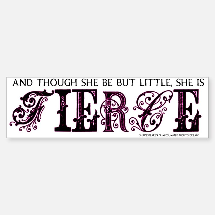 She is Fierce - Ecelectic Sticker (Bumper)