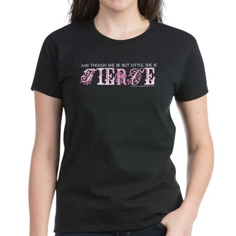 She is Fierce - Ecelectic Women's Dark T-Shirt