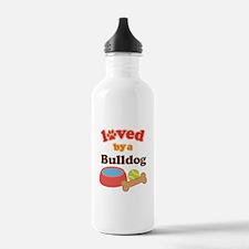 Bulldog Dog Gift Water Bottle