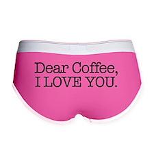 Dear Coffee, I Love You Women's Boy Brief