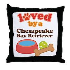Chesapeake Bay Retriever Dog Gift Throw Pillow
