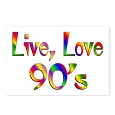 Live Love 90s Postcards (Package of 8)