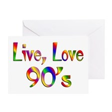 Live Love 90s Greeting Card