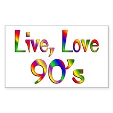 Live Love 90s Decal