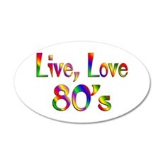 Live Love 80s 38.5 x 24.5 Oval Wall Peel