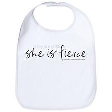 She is Fierce - Handwriting 1 Bib