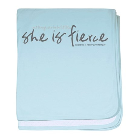 She is Fierce - Handwriting 1 baby blanket