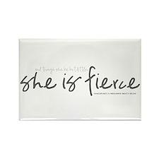 She is Fierce - Handwriting 1 Rectangle Magnet