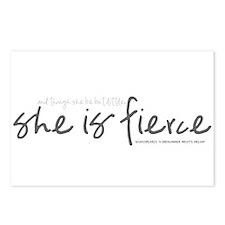 She is Fierce - Handwriting 1 Postcards (Package o