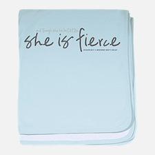She is Fierce - Handwriting 2 baby blanket