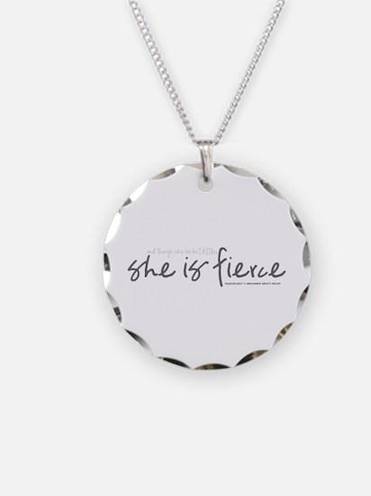 She is Fierce - Handwriting 2 Necklace