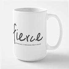 She is Fierce - Handwriting 2 Large Mug