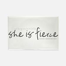 She is Fierce - Handwriting 2 Rectangle Magnet