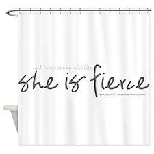 She is Fierce - Handwriting 2 Shower Curtain
