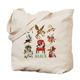 Alice thru the looking glass Canvas Totes