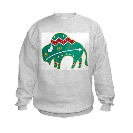 Indian Spirit Buffalo Kids Sweatshirt