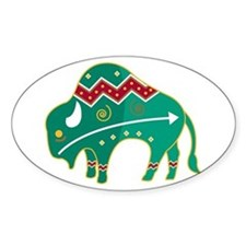 Indian Spirit Buffalo Oval Bumper Stickers