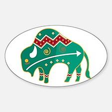 Indian Spirit Buffalo Oval Decal
