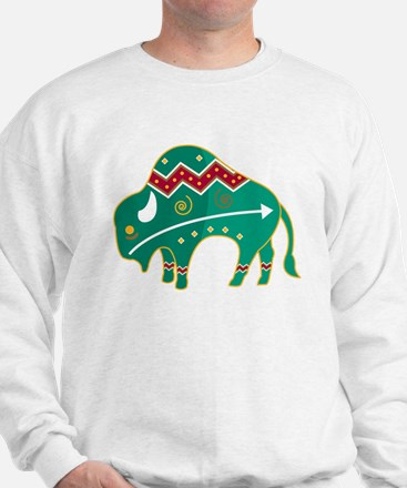 Indian Spirit Buffalo Sweatshirt