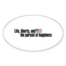 Life, Liberty, Pursuit Oval Decal