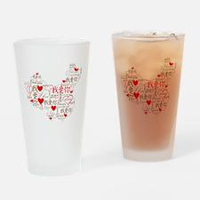 Wo Ai Ni - Red Drinking Glass