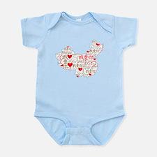 Wo Ai Ni - Red Infant Bodysuit
