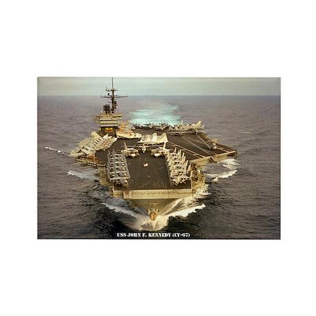 USS JOHN F. KENNEDY Rectangle Magnet