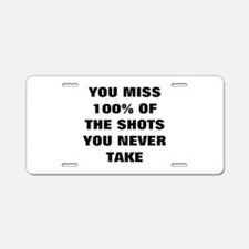 Basketball Shots Aluminum License Plate