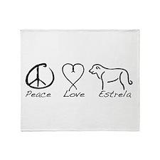 Cute Estrela mountain dog Throw Blanket