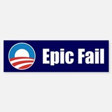 Obama Epic Fail Bumper Bumper Sticker