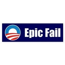 Obama Epic Fail Bumper Sticker