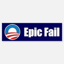 Obama Epic Fail Sticker (Bumper)