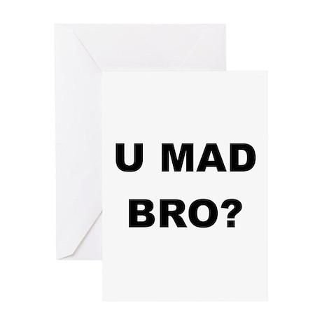 U MAD BRO? Greeting Card
