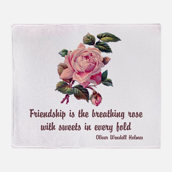 Breathing Rose Throw Blanket