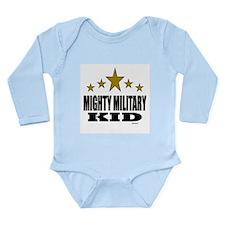 Mighty Military Kid Long Sleeve Infant Bodysuit
