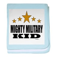 Mighty Military Kid baby blanket