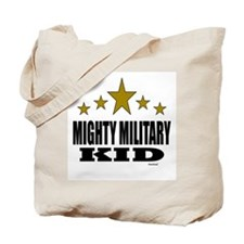 Mighty Military Kid Tote Bag
