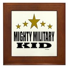 Mighty Military Kid Framed Tile