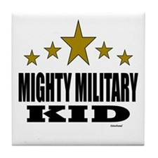 Mighty Military Kid Tile Coaster