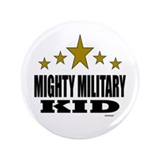 """Mighty Military Kid 3.5"""" Button"""