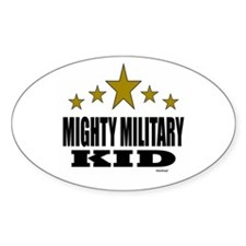 Mighty Military Kid Decal