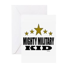 Mighty Military Kid Greeting Card