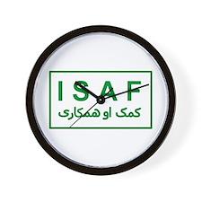ISAF - Green (2) Wall Clock