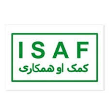 ISAF - Green (2) Postcards (Package of 8)